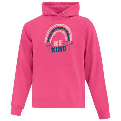 Be Kind Rainbow - Pink Hoodie